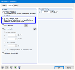 Activation of RF-CUTTING-OUT in the RFEM General Data