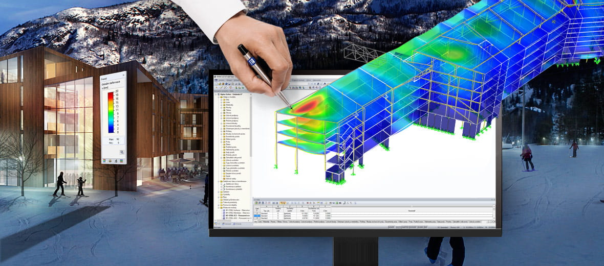 Finite element calculations with structural analysis software RFEM