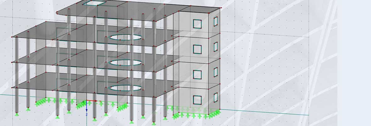 Structural engineering program RFEM | Building Model Reinforced concrete structure