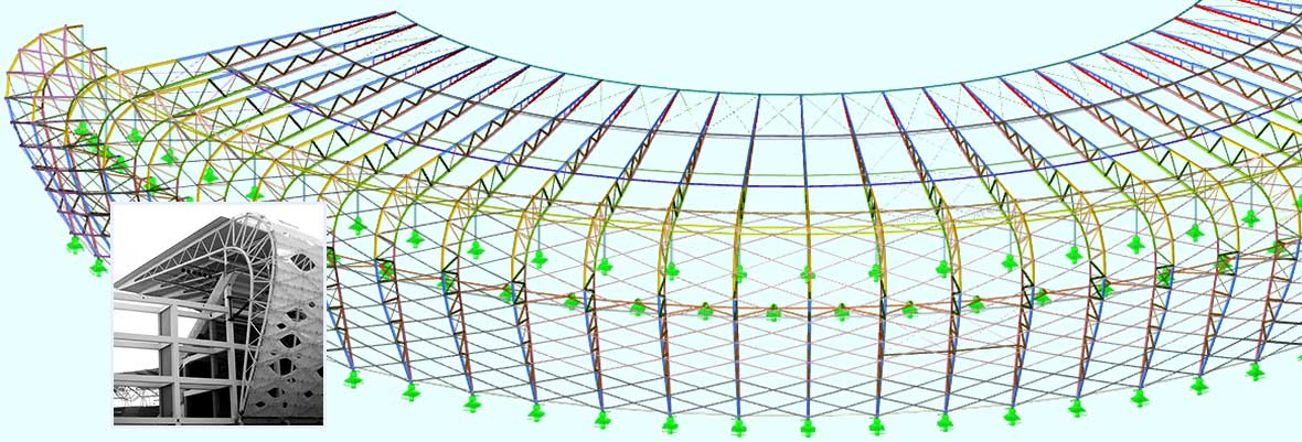 Structural Frame and Truss Analysis Software RSTAB | Stadium in Uyo, Nigeria