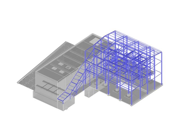 RFEM model of a boiler house | (c) www.ag-i.si