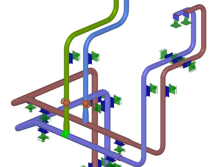 RFEM add-on module RF-PIPING Design | Design of pipelines