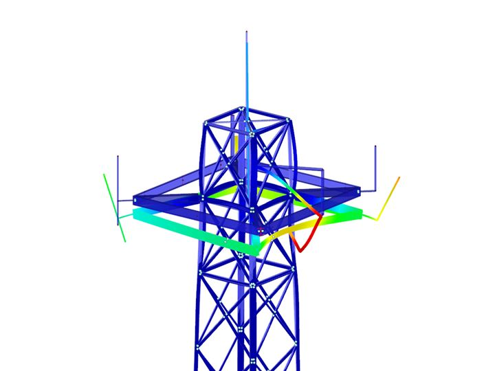 Model of a lattice tower