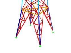 RFEM/RSTAB add-on module RF-/TOWER Structure | Generation of lattice tower structures