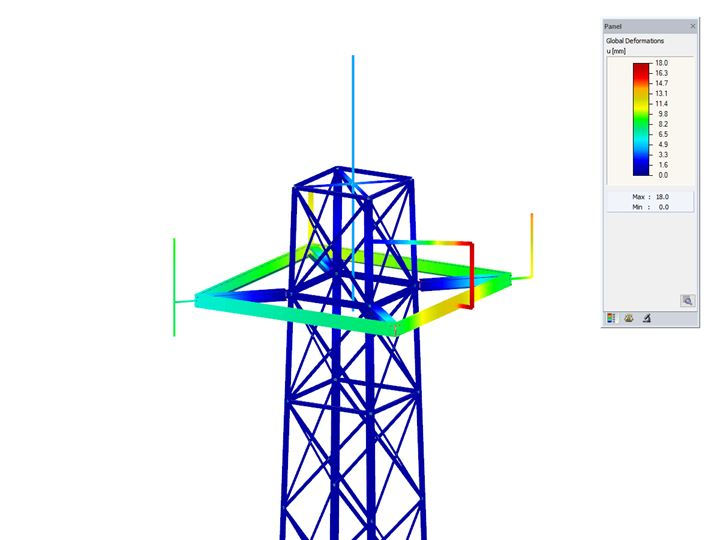 Module additionnel RFEM/RSTAB RF-/TOWER Design | Calcul des tours en treillis selon l'Eurocode