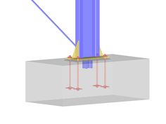 RFEM/RSTAB add-on module RF-/JOINTS Steel-Column Base | Hinged and restrained column bases according to EC 3