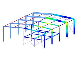Module additionnel RFEM/RSTAB RF-/STEEL AISC | Calcul des barres en acier selon ANSI/AISC 360-16