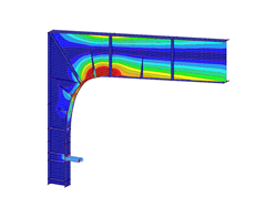 Steel stress analysis in RFEM