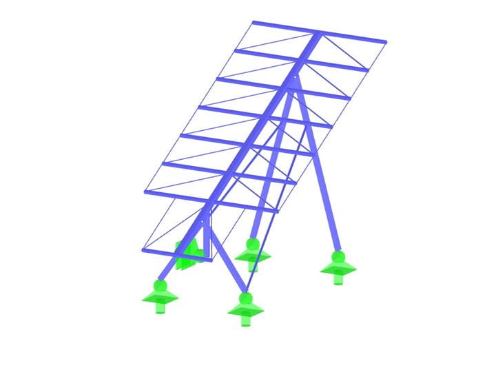 RSTAB model of a solar frame