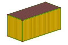 Model of a shipping container in RFEM