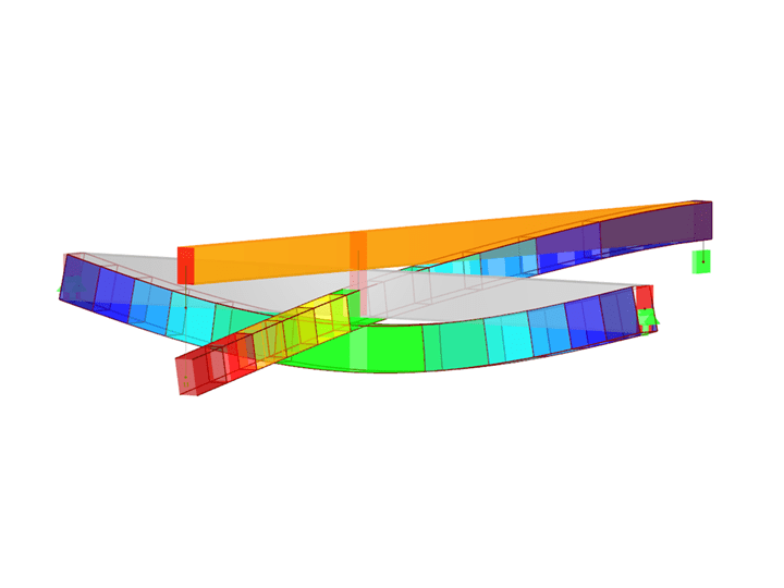 Timber offset as solid model in RFEM
