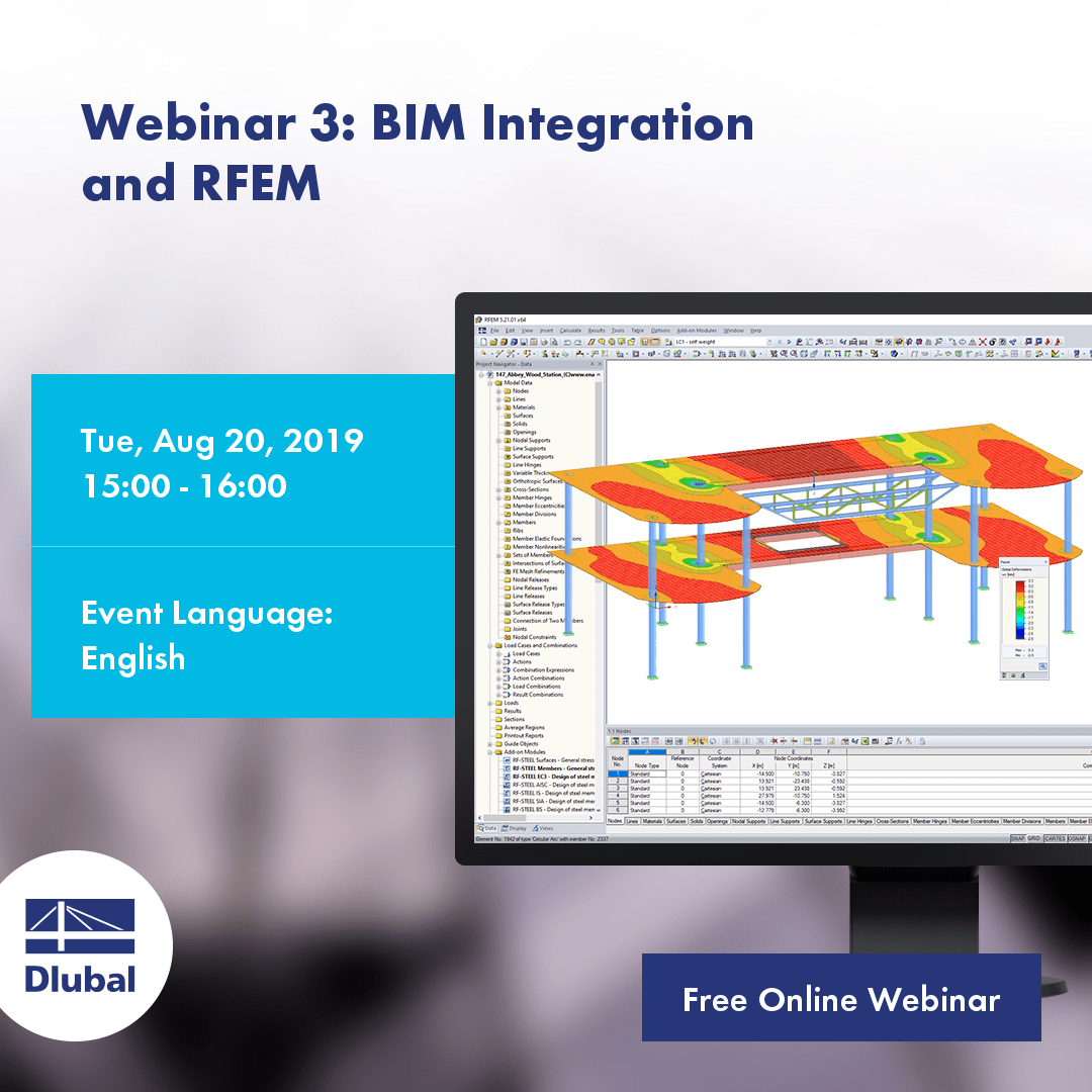 Webinar 3: BIM Integration and RFEM