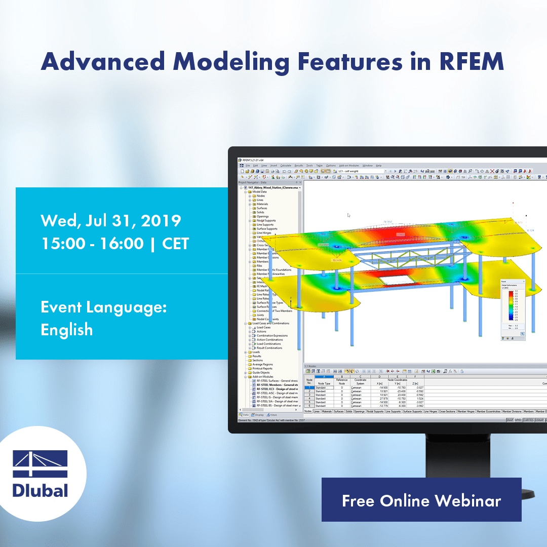 Webinar 2: Advanced Modeling Features in RFEM