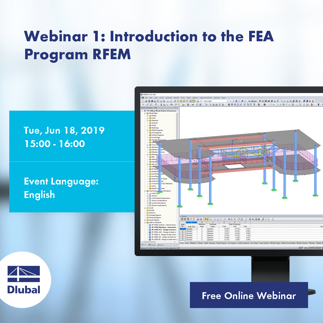 Webinar 1: Introduction to the FEA Program RFEM