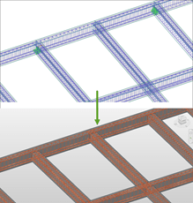 Transfer of reinforcement from RFEM/RSTAB (top) to Revit (bottom)