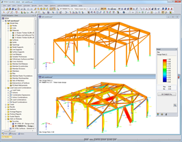 Graphical representation of timber model with design ratio