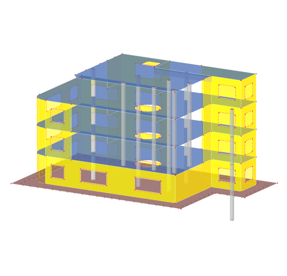 3D reinforced concrete model in RFEM