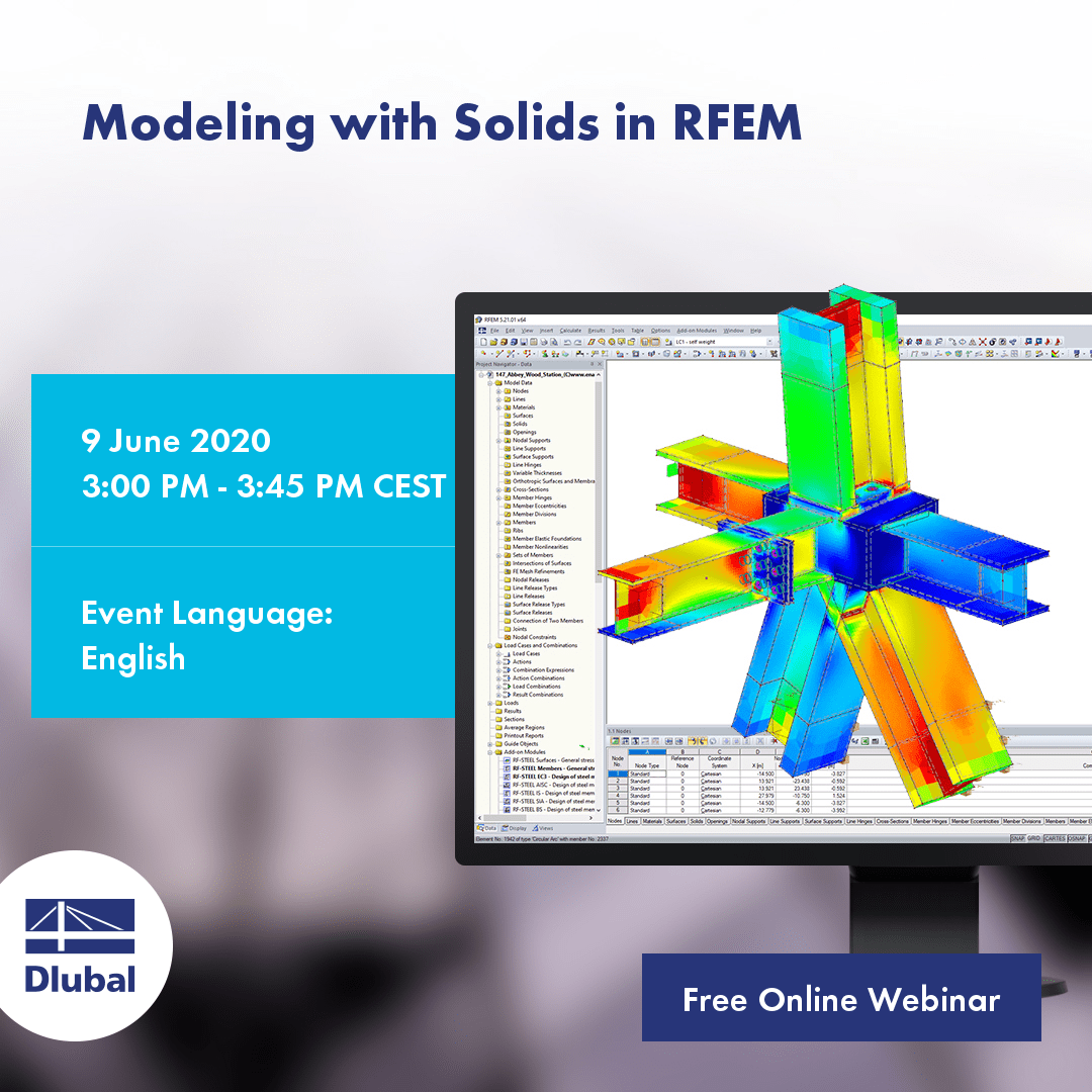 Modeling with Solids in RFEM