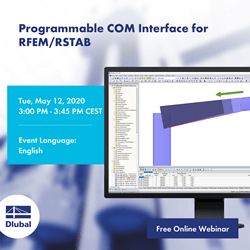Interface COM programmable pour RFEM/RSTAB
