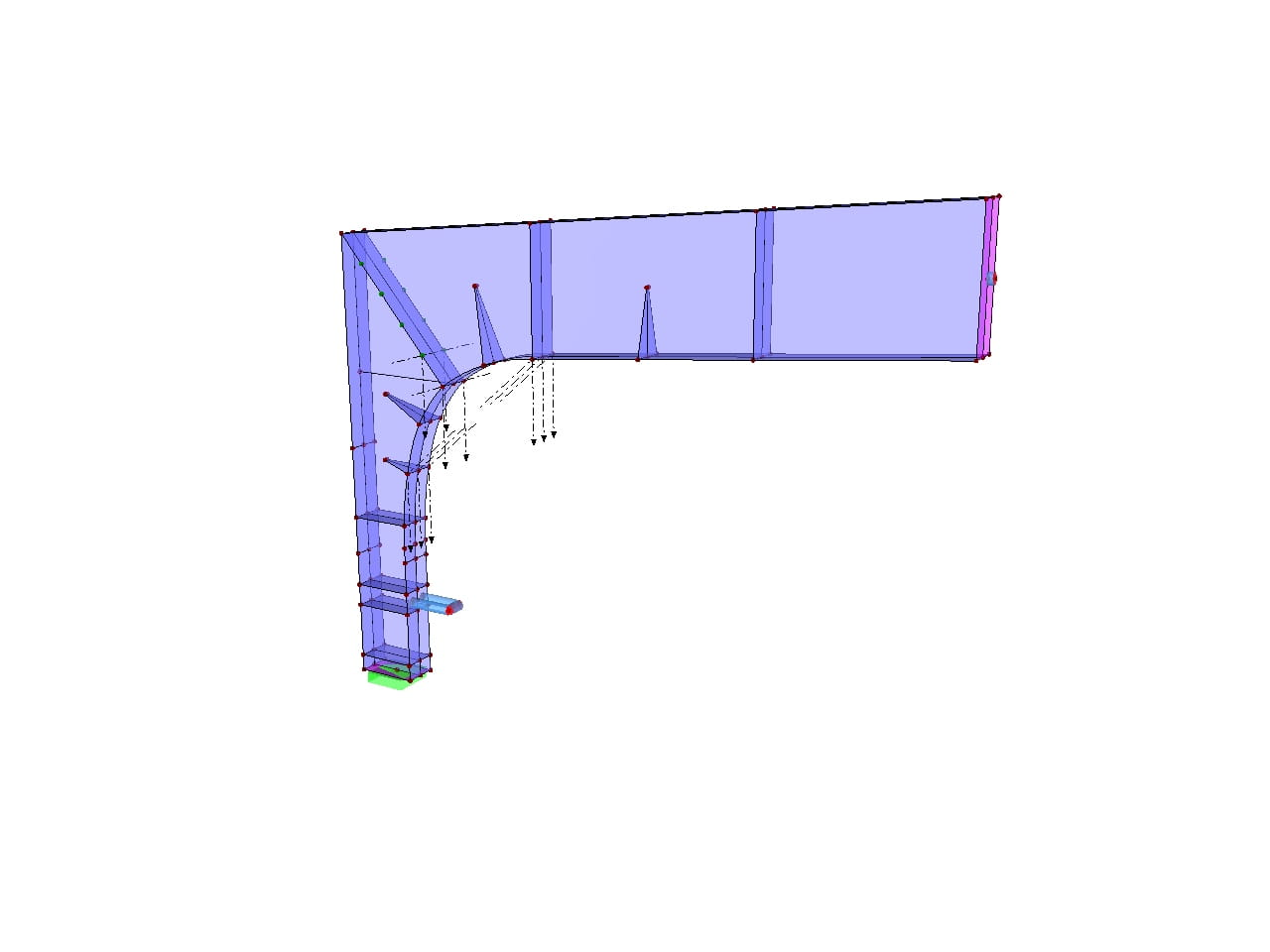 Frame Joint FEA Model