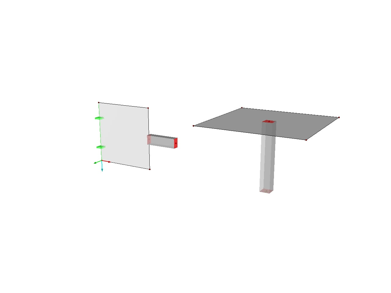 Connecting Member to Surface | FEA Model