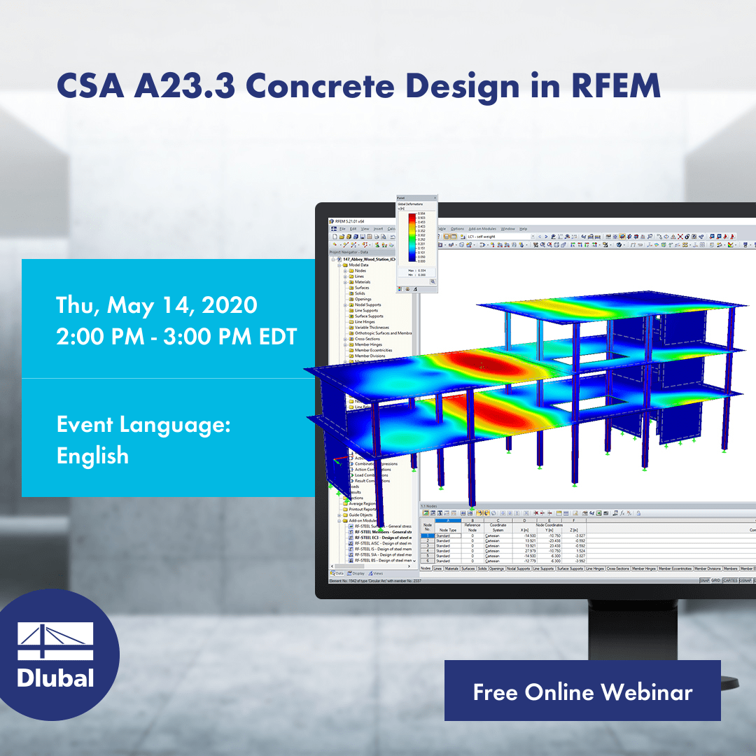 CSA A23.3 Concrete Design in RFEM
