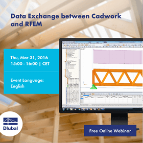 Data Exchange between Cadwork and RFEM