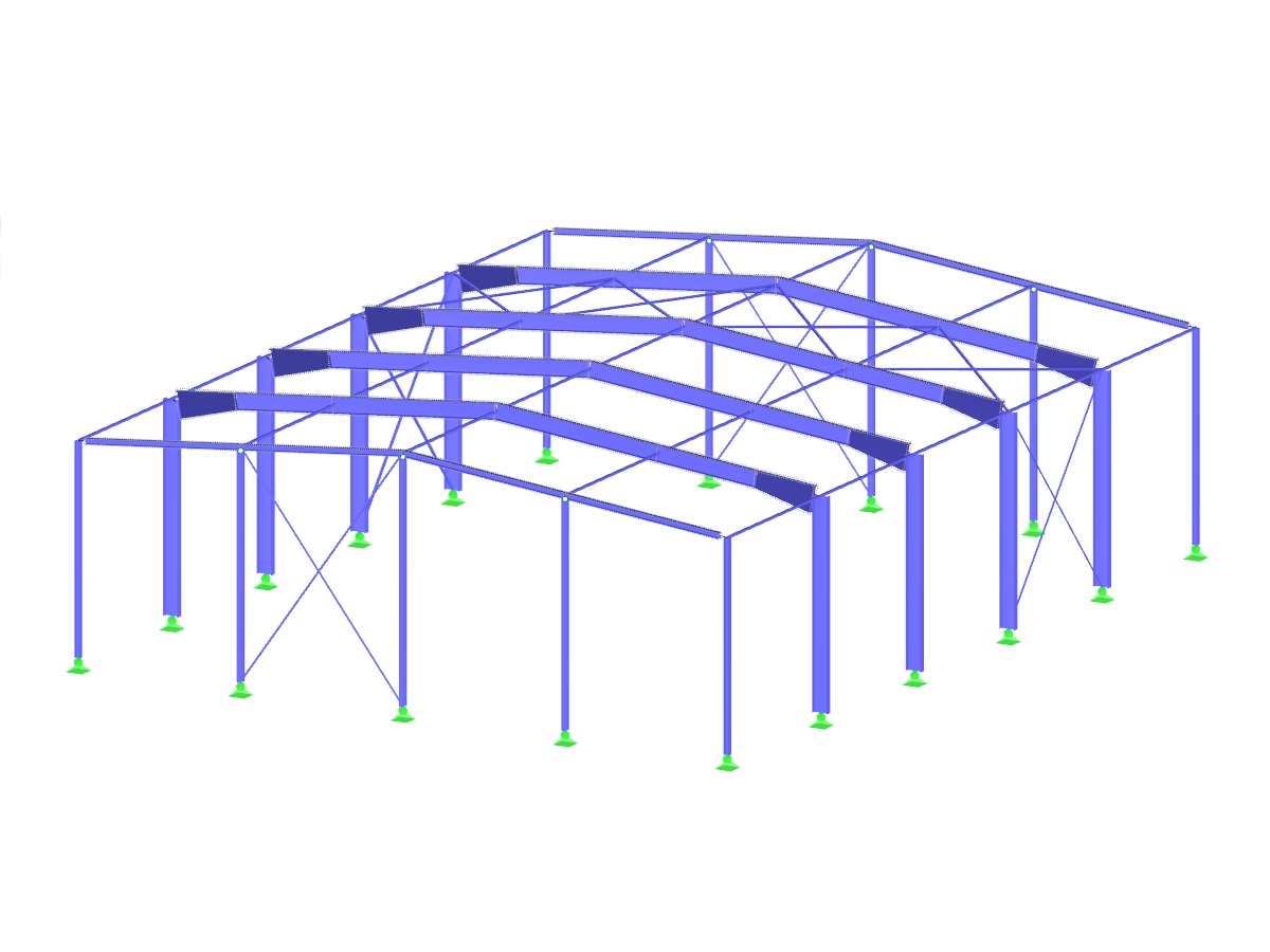 Steel Hall Structure with Tapers