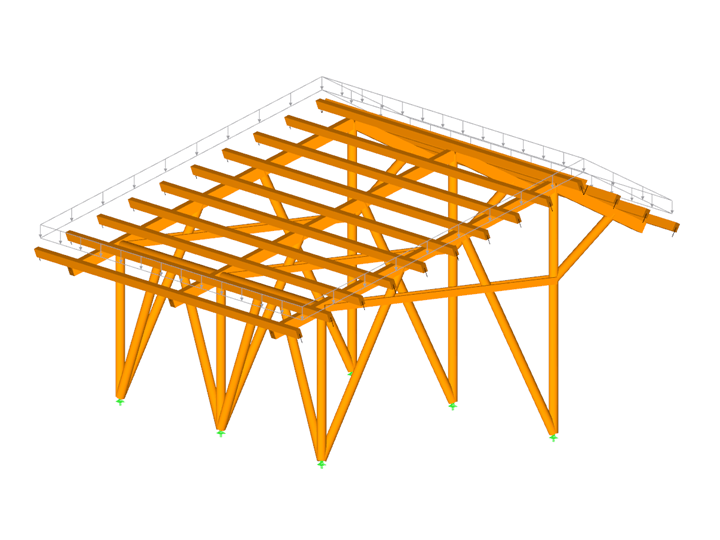 Canadian timber frame work