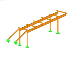 TImber Walkway with Eccentrically Connected Members