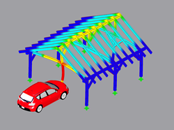 Impact of a Passenger Car on a Carport