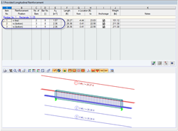 Tension and Compression Reinforcement RFEM Diagram