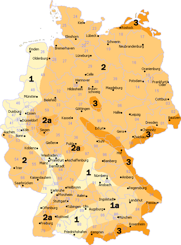 Snow Load Zones of Germany