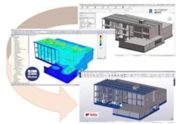 Design Revit - Calculation Dlubal RFEM - Construction Tekla Structures