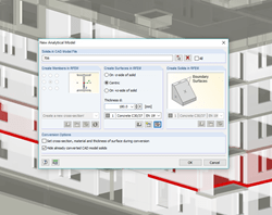 RFEM conversion of IFC object to structural analysis object