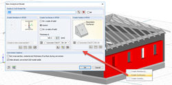 Dialog box for converting an architectural solid