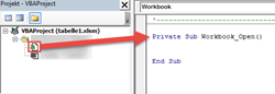 Sous-programme Workbook_Open in Workbook