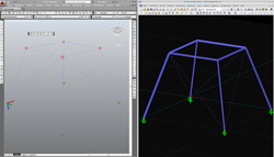Nodes as cube in AutoCAD