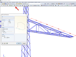 Inclined dimensioning