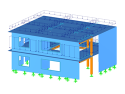 RFEM Model of Timber Residential Building