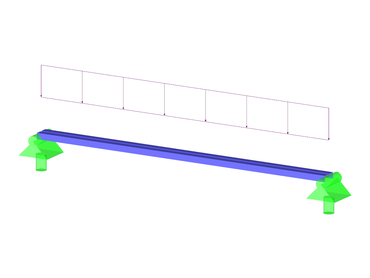Single-Span Beam with Cold-Formed Cross-Section