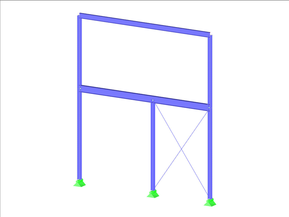 2D Frame with Hinged Column
