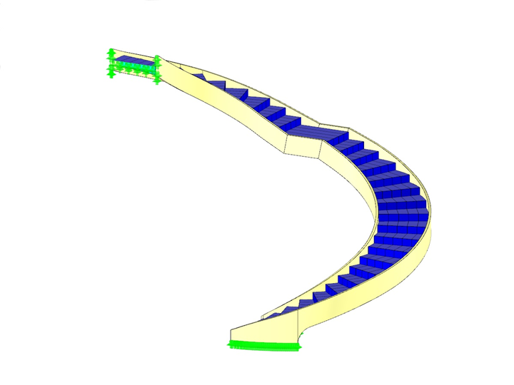 Steel Staircase Model