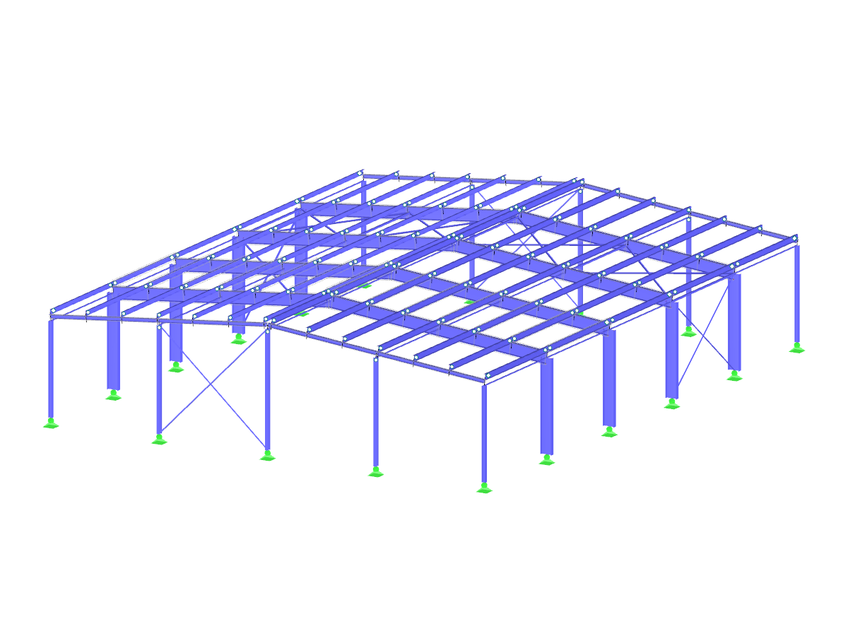 Steel Hall with Cold-Formed Z-Sections as Purlins