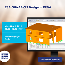 CSA O86:14 CLT Design in RFEM