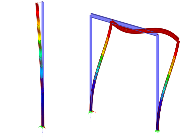 Euler Buckling Column and Moment Frame