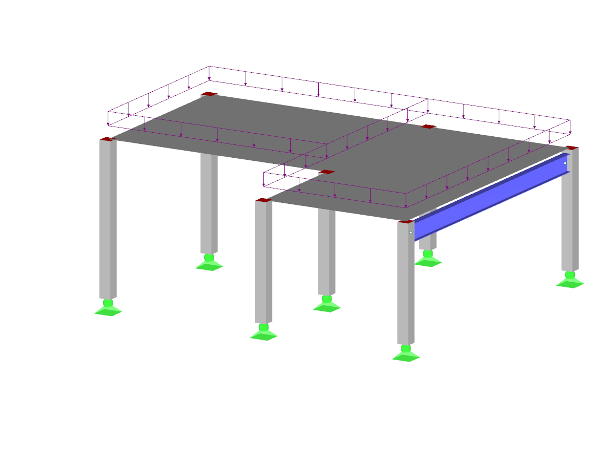 Introductory example for concrete and steel structure