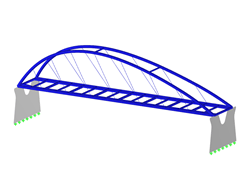 Arch bridge, inclined