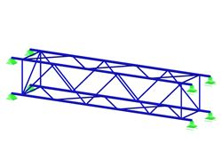 Lattice girder elements