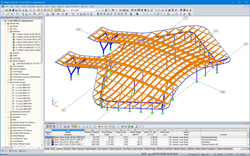 3D model of the supporting structure of Crossrail Station Abbey Wood in RFEM (© enartec - engineering + architecture)